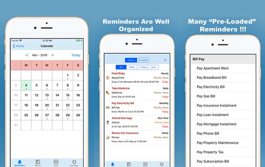 Awesome Reminders: Notes + To Do List + Reminders All In One App